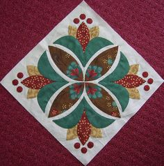 Pretty appliqué block