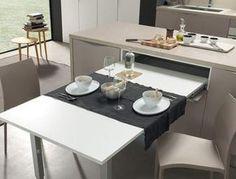 Tavolo a Scomparsa Modello 2050 a cassetto mensola estraibile ...
