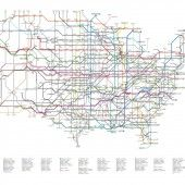 The US interstate system as a subway map, Cameron Booth