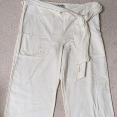 Free People White Pants These are really nice for wearing to the beach or out to dinner during the summer. Light fabric and look great with a higher sandal or heel Free People Pants Wide Leg