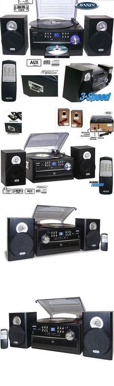 Compact And Shelf Stereos: Jensen Home Shelf Stereo Record Player System  With Speakers Ipod Aux