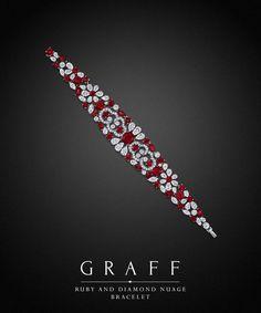 Best Diamond Bracelets : Graff Ruby and Diamond Bracelet. Best Diamond Bracelets : Graff Ruby and Diamond Bracelet. and Rubies cts. Graff Jewelry, Ruby Jewelry, High Jewelry, Diamond Jewelry, Luxury Jewelry, Diamond Rings, Jewellery, Ruby Bracelet, Diamond Bracelets