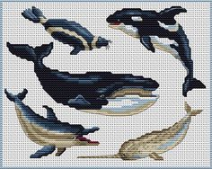 Cross-stitch Ocean Life, part 2... no color chart available, just use pattern chart as your color guide.. or choose your own colors...    Gallery.ru / Фото #30 - Морская тема - elena-555