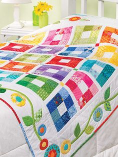 Quilting - Scrap Projects - Throws/Lap Quilts - Color Therapy Throw Quilt Pattern