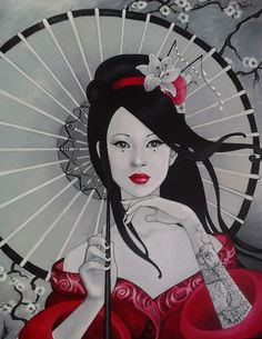 geisha by madanmar.deviantart.com on @DeviantArt