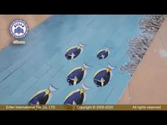 #Iranianpoolceramic Swimming Pool Tiles, Swimming Pool Designs, Ceramics, Animals, Ceramica, Pottery, Animales, Animaux, Animal