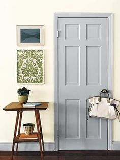 Paint Interior Doors Tips And Tricks: Changing The Color Of An Interior Door  Can Take A Room From Drab To Fab. But Too Much Contrast Between The Door  And ...