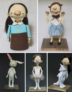 Not all dolls are for children – as evidenced by the incredibly bizarre and amazing art dolls, puppets and sculpture of these 15 artists. Creepy Hand, Scary Dolls, Paper Mache Clay, Plastic Doll, Get Happy, Cute Toys, Green Art, Hello Dolly, Soft Dolls