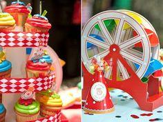 Circus party cupcakes