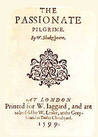 The Passionate Pilgrim - Wikipedia, the free encyclopedia