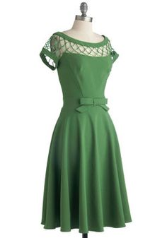 With Only a Wink Dress in Peridot at ModCloth $140