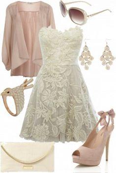 Bridal shower or rehersal attire