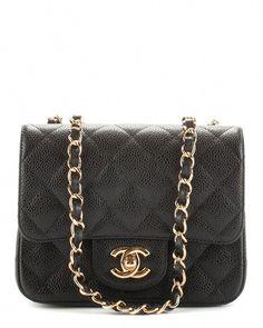 a45f0079076f Chanel Black Caviar Leather Mini Flap Bag is on Rue. Shop it now.