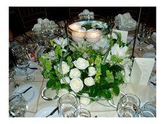 Arreglos de flores para bodas de noche con velas