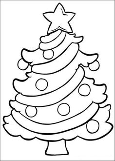 Easy Christmas Coloring Pages 1