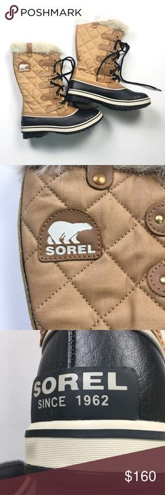 Sorel Winter Faux Fur Tan Brown Duck Boots 9M 9 Excellent like new condition, unworn. This is a sales sample produced for demonstration and is unused. Stamped not for resale, but I am indeed reselling. Cheers! Sorel Shoes Winter & Rain Boots