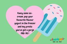 How to make a frozen yogurt!