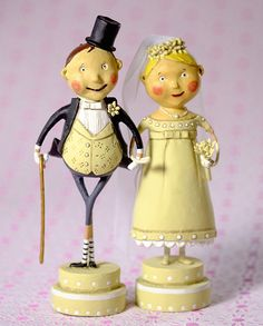Lori Mitchell - Wedding Belle and Lucky Fella - Set of 2 - Wooden Duck Shop