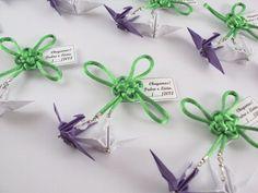 ímã decorativo || tsuru casal e nó chinês * baby (para gêmeos) - Sakura Origami & Acessórios