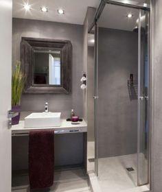 New small house remodel ideas bathroom makeovers Ideas Small Grey Bathrooms, Ensuite Bathrooms, Modern Bathroom, Bathroom Vanities, Luxury Bathrooms, Bathroom Cabinets, Bathroom Flooring, Bathroom Wall, Bathroom Lighting