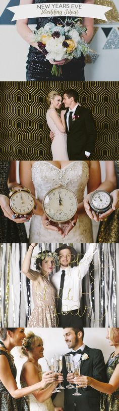 17 Simply Stylish New Years Eve Wedding Ideas, clock wedding theme, glam wedding New Years Wedding, New Years Eve Weddings, Wedding News, Wedding Themes, Wedding Styles, Our Wedding, Dream Wedding, Wedding Dresses, Wedding 2017