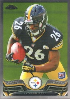 Le'Veon Bell 2013 Topps Chrome #198 RC Pittsburgh Steelers Michigan St. Spartans