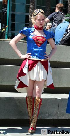 Steampunk Supergirl, picture by Pat Loika from WonderCon 2013.