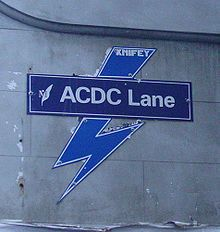 AC/DC Lane is a street in Melbourne. It is a short, narrow laneway, running south from Flinders Lane between Exhibition Street and Russell Street. Malcolm Young, Bon Scott, Brian Johnson, Angus Young, My Kind Of Town, Melbourne Australia, Australia Travel, Best Cities, Historical Photos