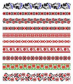 Download - Ukrainian embroidery ornaments — Stock Illustration #4807086