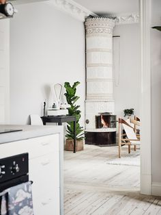 Quaint fireplace