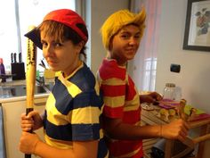 Lucas and ness cosplay! By my sister and I :)