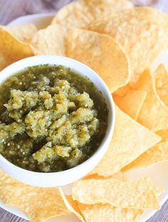 Salsa Verde with Hatch Chiles | http://www.browneyedbaker.com/salsa-verde-hatch-chiles/