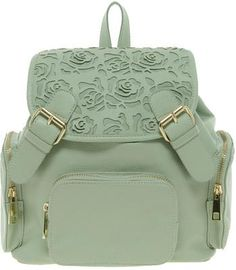 Asos Backpack With Mini Floral Cut Out / Wantering. So want it!