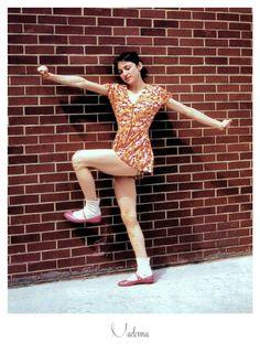 Madonna (1976) mit 18 Jahren an der University von Michigan, aufgenommen von Peter Kentes.