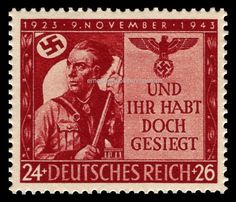 ::EBS Germany 1943 20th Anniversary of Munich Beer Hall Putsch MNH MiNr. 863**:: in Stamps, Europe, Germany & Colonies | eBay