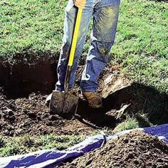 Dig a hole.   Photo: Brian Wilder | thisoldhouse.com | from 47 Skills You Need to Survive Homeownership