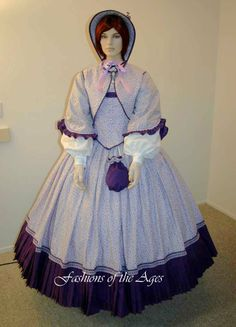 Image detail for -Custom Made Civil War Gowns & Dresses - Fashions of the Ages