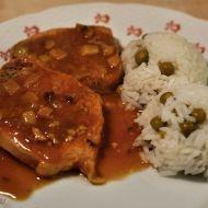 Fotografie receptu: Dušené vepřové kotlety Chana Masala, Pork, Cooking Recipes, Beef, Chicken, Ethnic Recipes, Red Peppers, Cooking, Kale Stir Fry