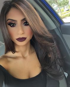 """@alaashabana96 on Instagram: """"I definitely have a thing for dark makeup now  baes liquid lipstick @amrezy in 'Montenegro' @liplandcosmetics  who wants to know how I blow dry my hair  #amrezy #lipland #liplandcosmetics #amrezycollection"""""""