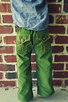 Cute boy pants - tutorial and free pattern.