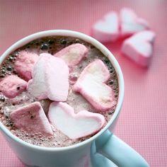 warme chocolademelk voor Valentijn