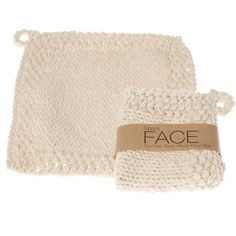 Comfort Face Cloth: Thick hand-knit face cloth - Spaza Store