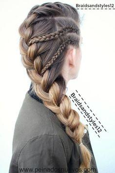 Box Braids Hairstyles, Cool Hairstyles, Hairstyle Ideas, Creative Hairstyles, Updos Hairstyle, Hair Updo, Baddie Hairstyles, French Hairstyles, Hairstyles Haircuts