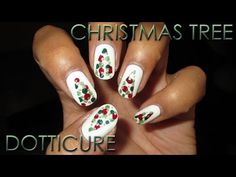 12 Days of Christmas | Christmas Tree Dotticure | DIY Nail Art Tutorial - YouTube
