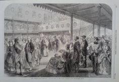 1862 PRINT THE PRESTON GUILD FESTIVAL : COSTUME BALL IN THE GUILD ASSEMBLY ROOM