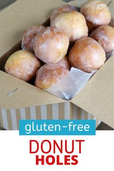 These glazed gluten free donut holes are light and airy with that thin glaze that crackles when you bite into them. Just like the donut shop! Gluten Free Party Food, Best Gluten Free Desserts, Gluten Free Donuts, Gluten Free Recipes For Breakfast, Gluten Free Breakfasts, Gluten Free Baking, Brunch Recipes, Free Food, Dessert Recipes
