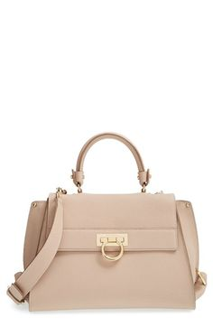 3c18a56ab9 Salvatore Ferragamo  Medium Sofia  Leather Satchel available at  Nordstrom  Tote Handbags