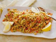 Rainbow Bell Pepper Couscous recipe from Food Network Kitchen via Food Network Healthy Sides, Healthy Side Dishes, Side Dishes Easy, Food Network Uk, Food Network Recipes, Couscous Healthy, Gourmet, Healthy Recipes, Eating Clean