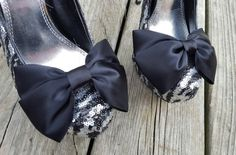 Hey, I found this really awesome Etsy listing at https://www.etsy.com/listing/471821744/black-wedding-satin-bow-shoe-clips