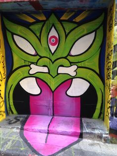 Taniwha Street art Melbourne